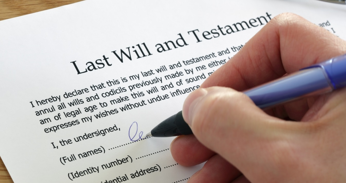 Signing Last Will and Testament | Remember a Charity