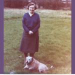 Maureen with her dog Rusty