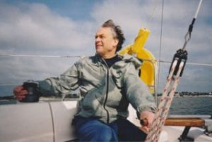 A photo of Andrew sailing